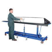 Vestil Extra-Long Deck Mobile Work Positioning Lift Table Cart LDLT-3096
