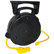 Lind Equipment 8050-T 50' 14/3 SJTW Cable Reel, 13A Triple Outlet
