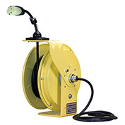 Lind Equipment LE9050143S1 50Ft 14/3 SJOW Cable Cord Reel W/ 15A Single Outlet