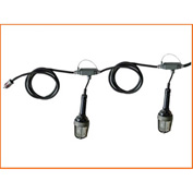 Lind Equipment TLS-50XPRE Expl Proof Stringlights, 50', 5 Lights, w/Non Expl Plug & Blunt Ends