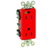 Leviton 16262-Hgr 15a, 125v, Decora Plus Duplex Receptacle, Hospital Grade , Red - Min Qty 14