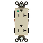 Leviton 16362-Hgt 20a, 125v, Decora Plus Duplex Receptacle, Self Grounding, Light Almond -Min Qty 12