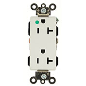 Leviton 16362-Hgw 20a, 125v, Decora Plus Duplex Receptacle, Self Grounding, White - Pkg Qty 10