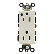 Leviton 16362-Plw 20a, 125v, Decora Plus Duplex Receptacle, White - Min Qty 8