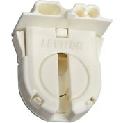 Leviton 23652-WP Fluorescent Lampholder, Med Bi-Pin, with Internal Shunt