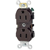 Leviton 5242 15A, 125V, Duplex Receptacle, Brown