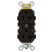 Leviton 5342 20a, 125v, Duplex Receptacle, Brown - Min Qty 23