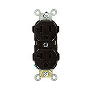 Leviton 5352 20A, 125V, Duplex Receptacle, Brown