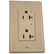 Leviton 5380-Igg Decora Duplex Surge Suppressor Receptacle Iso Ground, 20a, Gray - Min Qty 4
