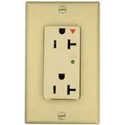 Leviton 5380-Igi Decora Duplex Surge Suppressor Receptacle Iso Ground 20a, Ivory - Min Qty 4
