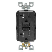 Leviton 7599-Fw Smartlockpro Ground Fault Circuit Interrupter Recpt, White - Min Qty 8
