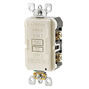 Leviton GFRBF-T SmartlockPro, Blank Face w/Indicator Light, 20A, Self Testing, Light Almond