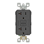 Leviton GFNT2-E 20A SmartlockPro Self-Test GFCI Duplex Recpt, Ind Light, Wire Leads, Black