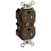 Leviton 8300-Sg 20a, 125v, Duplex Receptacle, Self Grounding, Brown - Min Qty 8