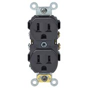 Leviton CR15 15A, 125V, Duplex Receptacle, Self Grounding, Brown