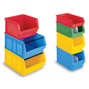 "Schaefer Extra-Large Stacking Bins LF532  - 12""W x 20""D x 8""H - Yellow, Price Per Each - Pkg Qty 6"