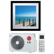 LG Art Cool™ Gallery Inverter Single Zone Duct-Free Split System, 11200 BTU Cool 13300 BTU Heat