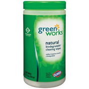 "Green Works Compostable Wipes Citrus Blend 7"" x 7-1/2"", 62 Wipes/Can 6/Case - COX30380CT"