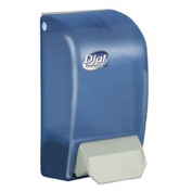 "Dial Foaming Hand Soap Dispenser 5"" x 4-1/2"" x 9"", Translucent Blue 1000mL Refill - DPR06056"
