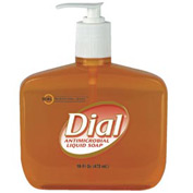 Dial Gold Antimicrobial Soap Floral, 16 Oz. Pump 12/Case - DPR80790CT