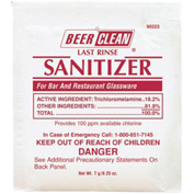 Beer Clean Last Rinse Glass Sanitizer Powder, .25 Oz. Packet 100/Case - DRA90223