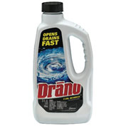 Drano® Liquid Drain Cleaner W/ Safety Cap, 32 Oz. Bottle 12/Case - DRACB001169