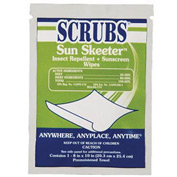 Scrubs Sun Skeeter Insect Repellent + Sunscreen Wipes, 100/Pack - ITW91501