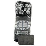 Industrial-Quality Steel Wool Hand Pads #3 Medium, 16/Pack 12/Case - GMA117006