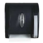 Hygienic Push-Paddle Roll Towel Dispenser, Translucent Smoke - GEP54338