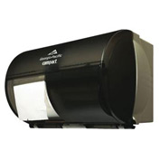 "Coreless 5-3/4"" Dia. Side-By-Side Double Roll Toilet Tissue Dispenser, Smoke - GEP56784"