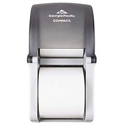 "Coreless 5-3/4"" Dia. Vertical Double Roll Tissue Dispenser 6"" x 6-1/2"" x 13-1/2"", Smoke - GEP56790"