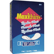 Hospeco Maxithins #4 Full Protection Sanitary Napkins Individually Boxed, 250/Case - HOSMT4