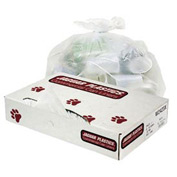 "10 Gallon Medium Grade Trash Liners 24"" x 23"" 0.50 Mil., White 500/Pack - JAGW2423X"