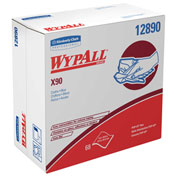 Kimberly-Clark Professional Wypall X90 Cloths, Industrial - 68/Box, White