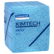 "Kimtech Prep Kimtex 1/4 Fold Wipers 12-1/2"" x 13, Blue 66 Wipes/Box 8/Case - KIM33560"