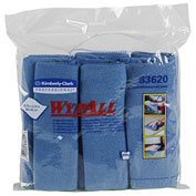 """Wypall Cloths With Microban Microfiber 15-3/4"""" x 15-3/4"""", Blue 6 Wipes/Pack 4/Case - KIM83620CT"""