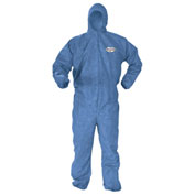 Kleenguard® A60 Bloodborne Pathogen & Chemical Splash Protection Coverall 45023, LRG, 24/Case