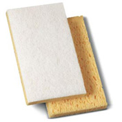 "Premiere Light-Duty Scrubbing Sponge, 3-3/5"" x 6"" x 7/10"", Yellow/White 20/Case - PMP16320"
