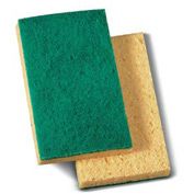 "Premiere Medium-Duty Scrubbing Sponge 3-3/5"" x 6-1/10"", Yellow/Green 20/Case - PMP174"