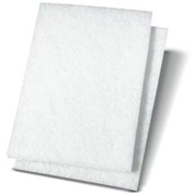"Premiere Light-Duty Scour Pad 6"" x 9"", White 20/Case - BWK198"