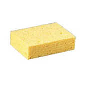 "Premiere Pads Beige Large Cellulose Sponge 4-3/10"" x 7-4/5"" x 1-1/2"" Thick, Yellow 24/Case - PMPCS3"