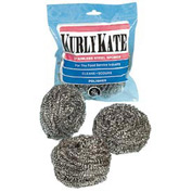 Kurly Kate Stainless Steel Large Scrubber, 12/Pack - PUX756