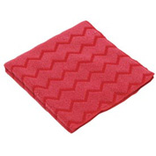 "Rubbermaid® HYGEN Microfiber Cleaning Cloths 12"" x 12"", Red 12/Case - RCPQ620RED"