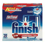 Finish Powerball Dishwasher Tabs Fresh Scent, 20 Tabs/Box 8/Case - RAC77050CT