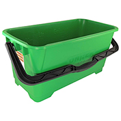 Unger Heavy-Duty Plastic Pro Bucket, Green 6 Gallons - UNGQB220