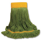 Medium Echomop Looped-End Wet Mop Head, Green 12/Pack - UNS1200MCT