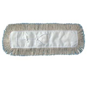 "60"" x 5"" Industrial Hygrade Cotton Dust Mop Head, White - UNS1360"