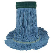 Large Echomop Looped-End Wet Mop, Blue 12/Pack - UNS1400LCT