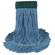 Medium Echomop Looped-End Wet Mop Head, Blue 12/Pack - UNS1400MCT