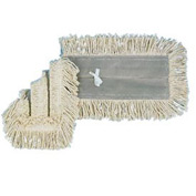 "24"" x 5"" Cotton/Synthetic Disposable Dust Mop Head, White - BWK1624"